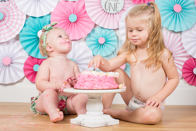 Cassidy 1 year Cake Smash - 83